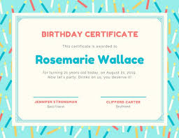 birthday certificate templates canva