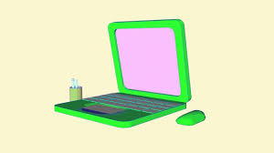 test animation laptop sketch and toon cinema 4d youtube