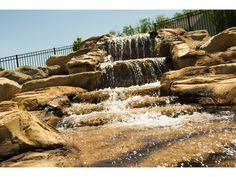 Aquascapes Pools Faux Carved Waterfall And Concrete Pool Natural Gas Tiki Torches