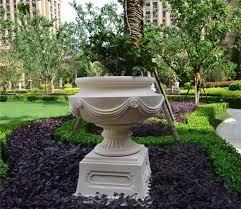 egypt beige marble garden flower pots landscaping stones exterior