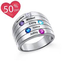 personalized birthstone ring personalized birthstone ring