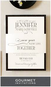 new years eve formal wedding invitations gourmet invitations