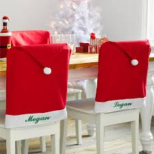 santa chair covers personalized decor santa hat chair cover new buys