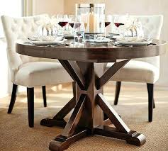 Espresso Pedestal Dining Table Oval Pedestal Dining Table Seats 8 Contemporary Double Base