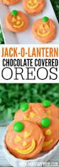 jack o lantern chocolate covered oreos turn oreos into a fun treat