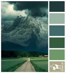 Blue Color Palette by Alps Road Green Forest Teal Blue Grey Designcat Colour