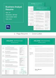 resume cover page exle business analyst resume template 11 free word excel pdf free