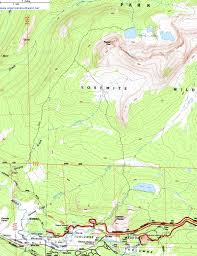 Griffith Park Map Topographic Map Of The Young Lakes Trail Yosemite National Park
