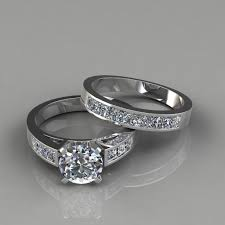 bridal set rings cut engagement ring and wedding band bridal set puregemsjewels