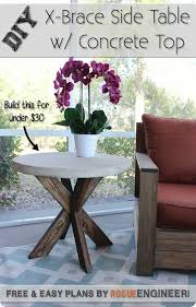 Outdoor End Table Plans Free by Best 25 Outdoor Side Table Ideas On Pinterest Easy Patio