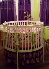 Crib Bedding Etsy by Custom Round Crib Bedding In Pink And Purple Made To Order By