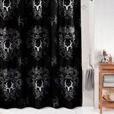Gorgeous Shower Curtain by Bone Collector Black Shower Curtain 07170110000bc Kimlor Mills