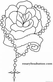 coloring amusing roses tattoo outline roses tattoo designs