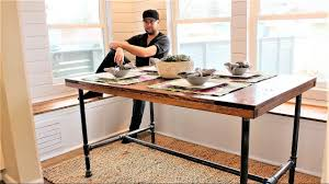Diy Desk Design by The Industrial Farm Table Diy Project Youtube