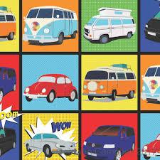 volkswagen van art wrapping paper pop art inspired by the vw camper van beetle and