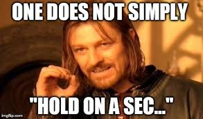 Sec Memes - one does not simply meme imgflip