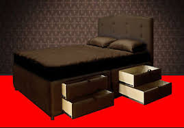Bed Frames With Storage Drawers And Headboard King Platform Bed Frame With Storage Drawers Upholstered Bed And