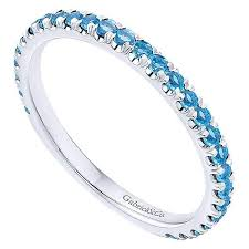stacking birthstone rings 14k white gold blue topaz stackable birthstone ring mullen jewelers
