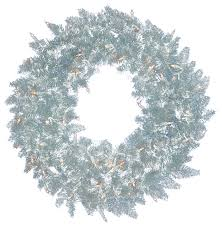 pre lit silver spruce tinsel wreath clear lights