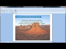 cara membuat tulisan watermark di excel excel 2007 tutorial cara membuat gambar watermark di microsoft
