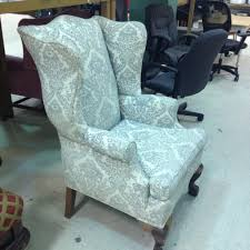 Wing Recliner Chair Vintage Wing Back Chair Thrift Score Thrift Diving Blog