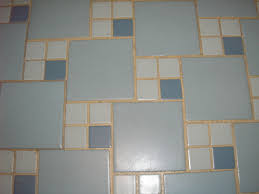 Blue And White Bathroom Ideas by Replicating Alice U0027s Blue 50s Bathroom Tile Floor 50s Bathroom
