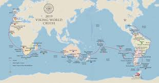 Viking Map Viking Cruises Announces Second World Cruise For Fourth Ship