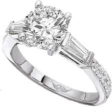 engagement rings with baguettes flyerfit tapered baguette pave engagement ring 4209arpl