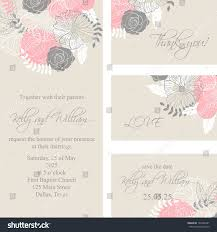 Wedding Invitations And Thank You Cards Wedding Invitation Thank You Card Save Stock Vector 148702481