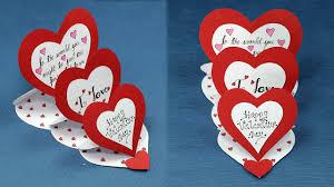 diy valentine card how to make triple easel heart u0027i love you