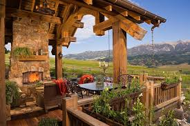 rustic stone and log homes modern stone and log homes awesome rustic decks that offer a tranquil escape