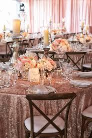 Light Pink Table Cloth A Glamorous Silver U0026 Blush Beach Wedding Linens Wedding And