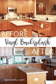 kitchen decals for backsplash kitchen an easy backsplash made with vinyl tile hgtv diy kitchen