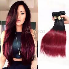 ombre weave dyed hair weave extensions remy human hair extensions wholesale