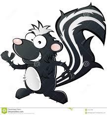 cartoon skunk stock vector image of cartoon standing 16127669