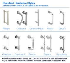 shower door hardware u0026 fleurco kinetik hardware shower door