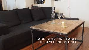 Grande Table Industrielle by Diy Fabriquez Une Table De Style Industriel Youtube