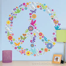 peace sign bedroom wall decal good look peace sign wall decals peace sign room decor