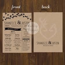 rustic wedding program hadley designs wedding programs how to