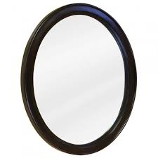 oval vanity mirror espresso bathroom