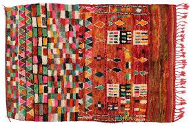 hand knotted wool vintage morocco azilal rug 4 u0027 10
