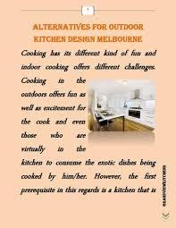 Outdoor Kitchen Designs Melbourne Alternatives For Outdoor Kitchen Design Melbourne By Tina Van Issuu