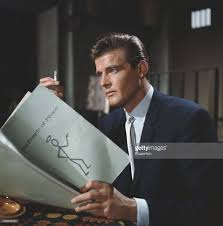 Roger Moore by Ot R I P Sir Roger Moore Bluewhiteillustrated Com