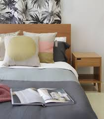 Bed Side Tables by Nz Made Bed U0026 Bedside Table With Thread Design Duvet And Aura Home