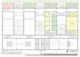 Art Studio Floor Plan Lsu Studio Arts Building
