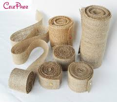 burlap ribbon jute burlap ribbon 10m vintage wedding centerpieces decoration