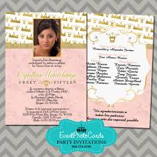 princess coral quinceanera invitations 15th birthday invites for