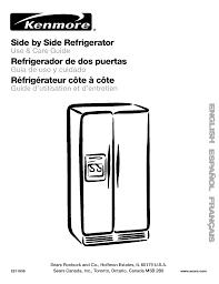 kenmore refrigerator 106 user guide manualsonline com