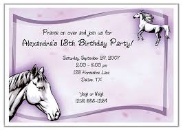 birthday invites remarkable horse birthday party invitations