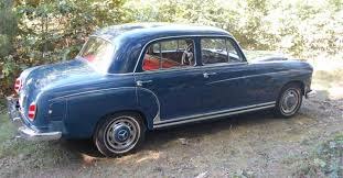 blue mercedes 1959 mercedes benz with red leather interior classiccars com